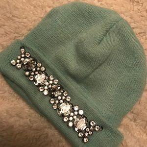 Sea foam green Jeweled cap